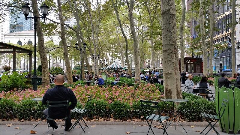 New York Cities Bryant Park im September