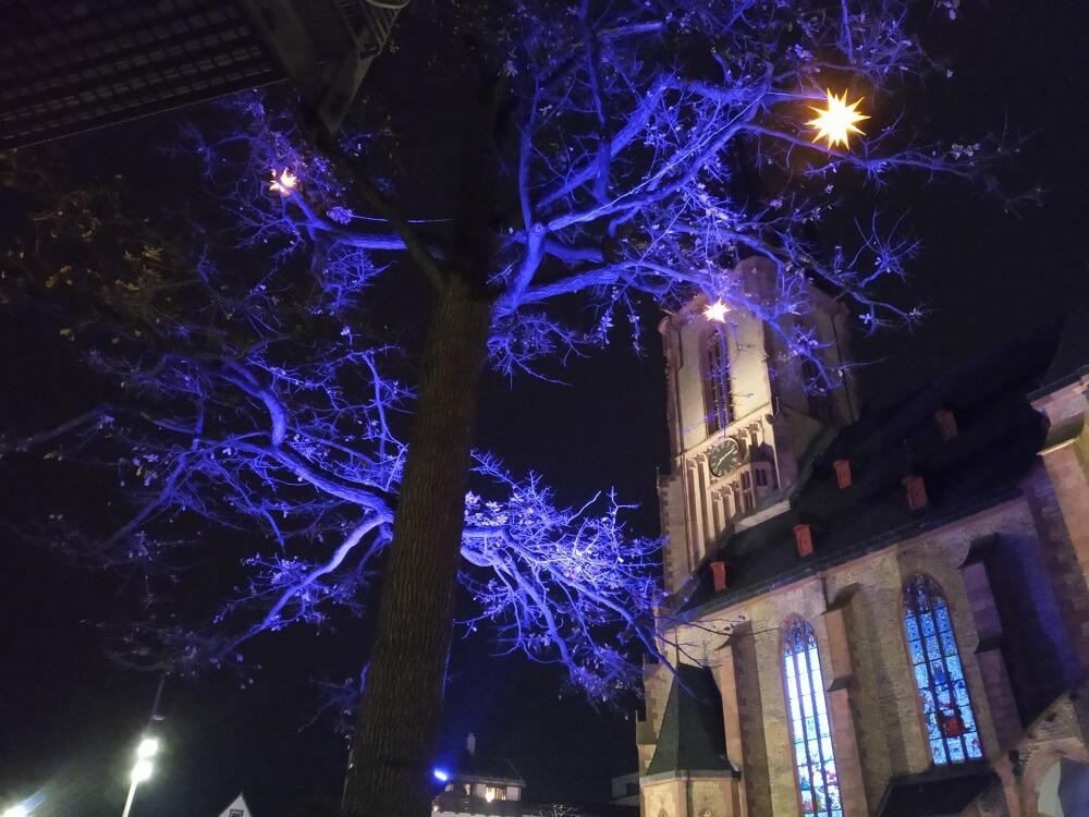 Innenstadt mit Weihnachtsbeleuchtung